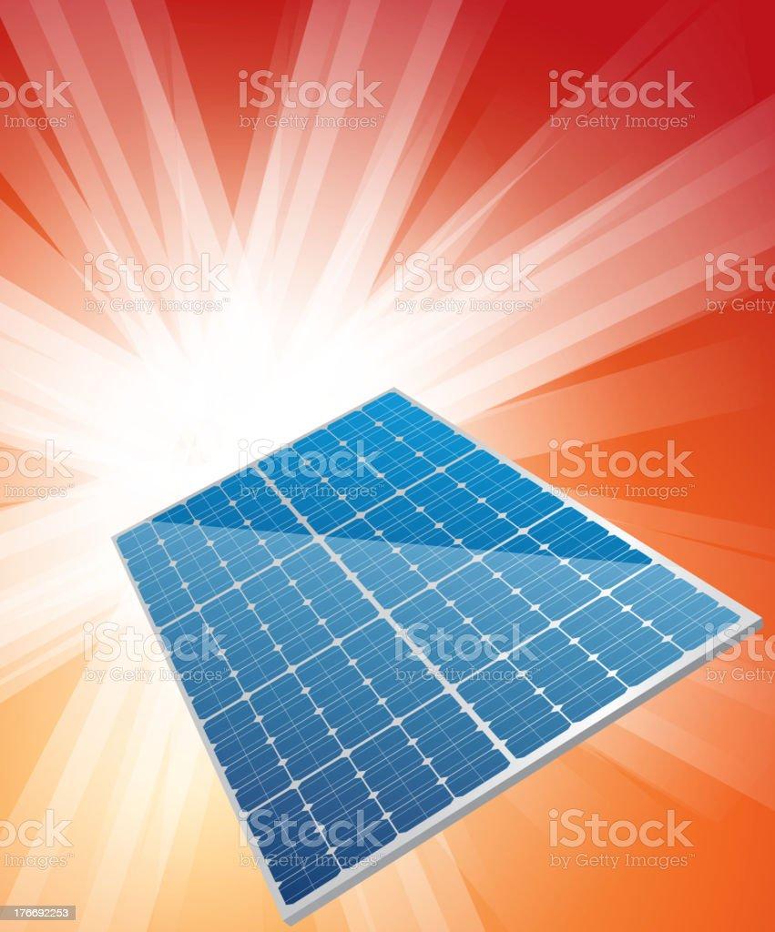 Solar cell royalty-free stock vector art