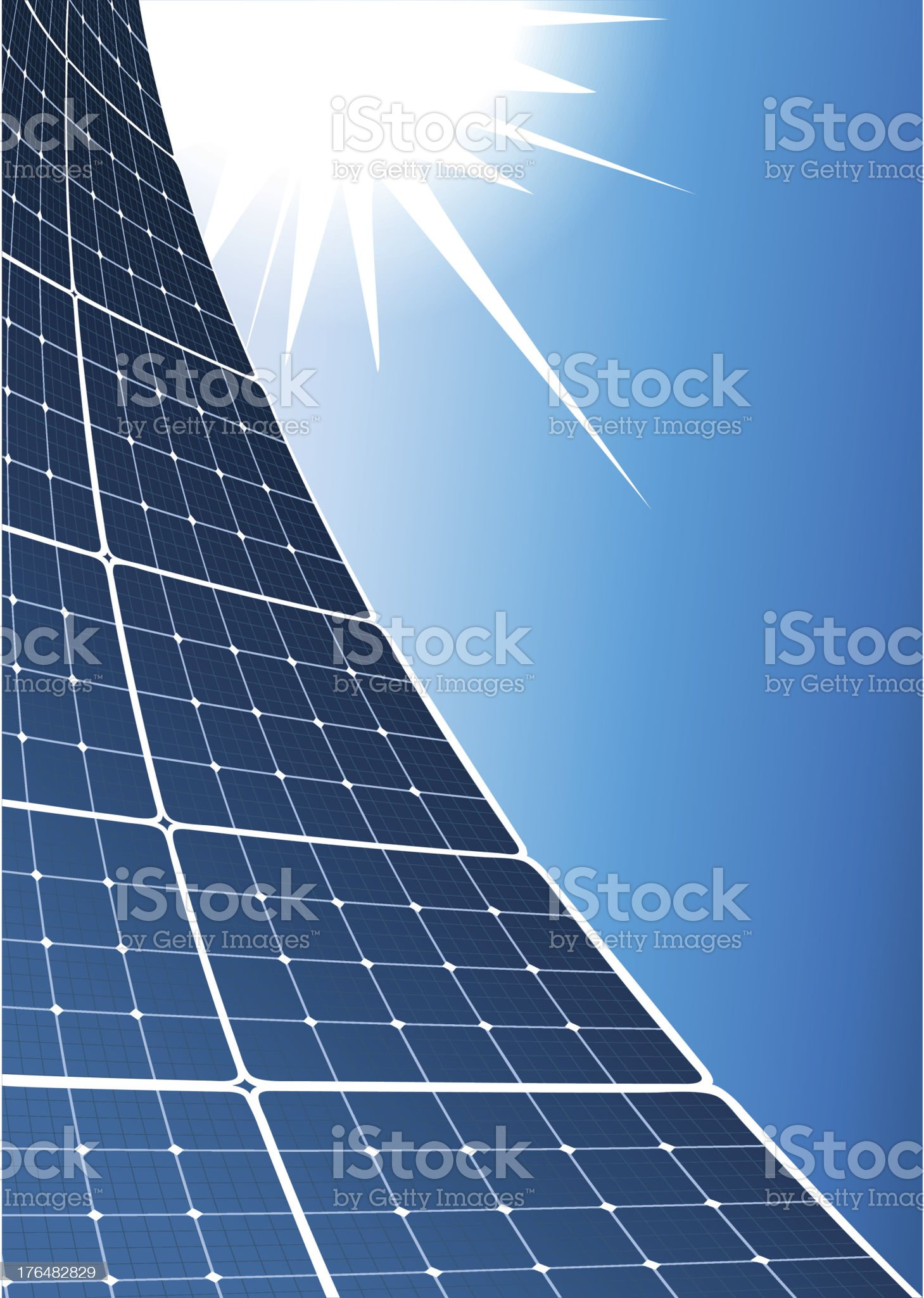 Solar collector royalty-free stock vector art
