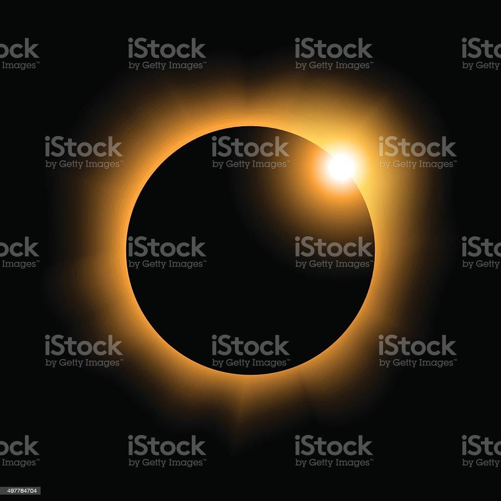 solar eclipse variant 2 vector art illustration