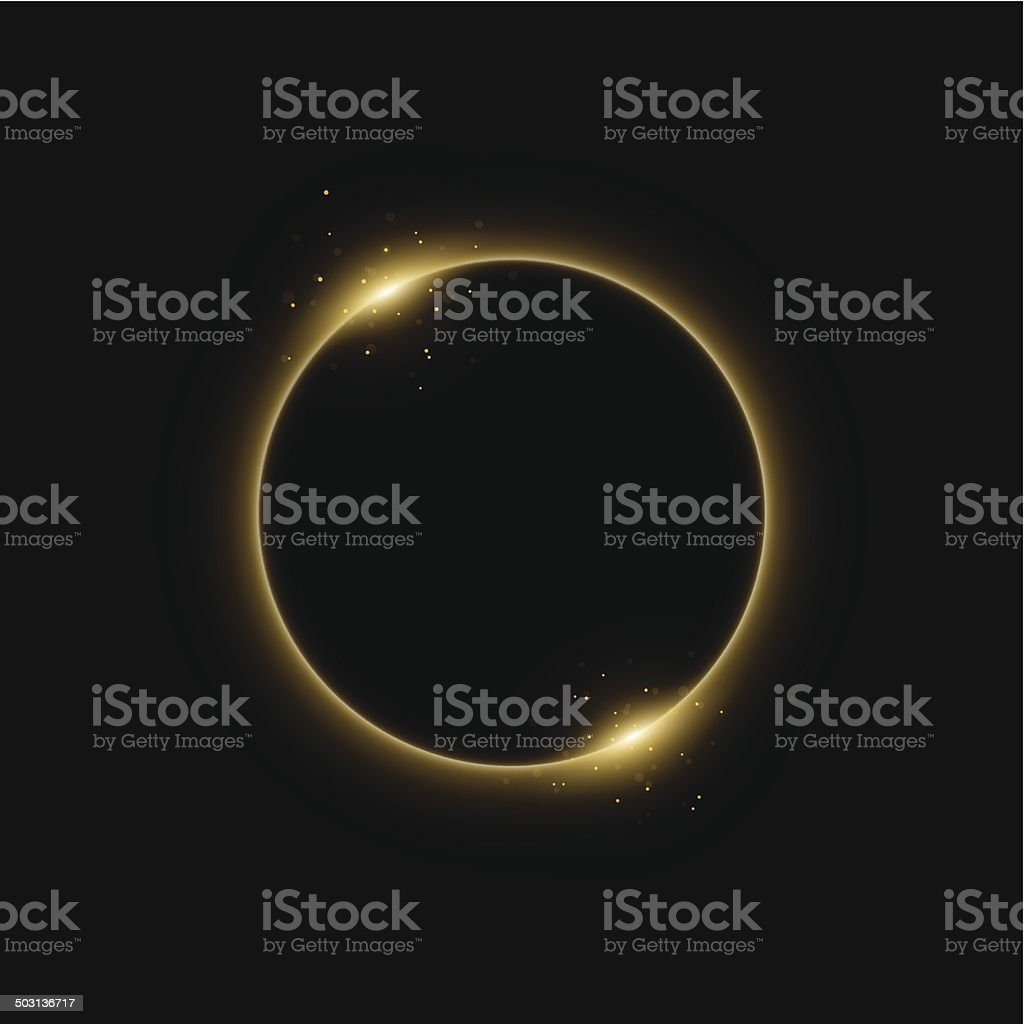 Solar eclipse vector art illustration