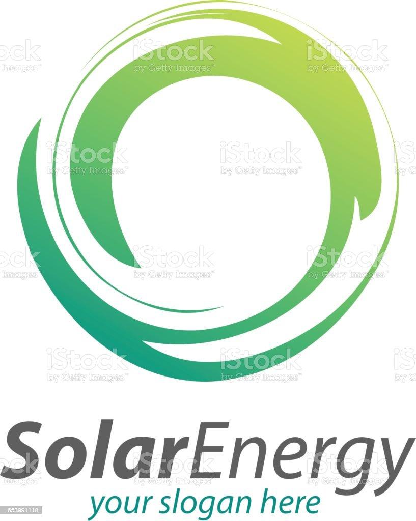 Solar Energy Technology, abstract circle Symbol vector art illustration