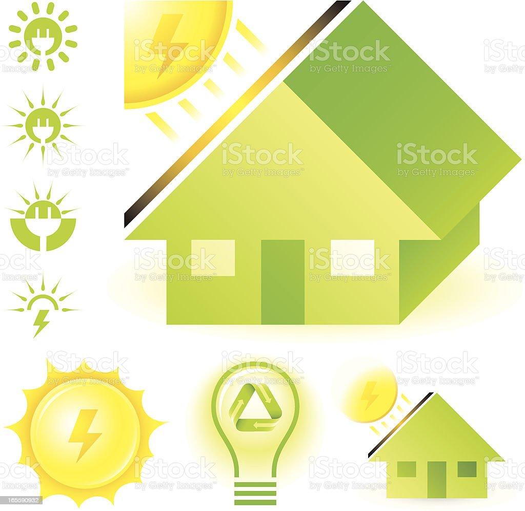 Solar energy royalty-free stock vector art