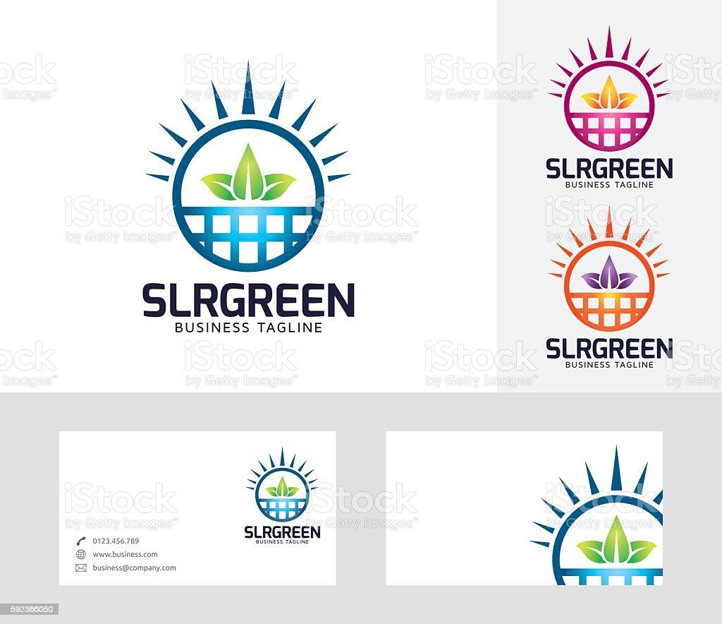 Solar Green vector logo vector art illustration
