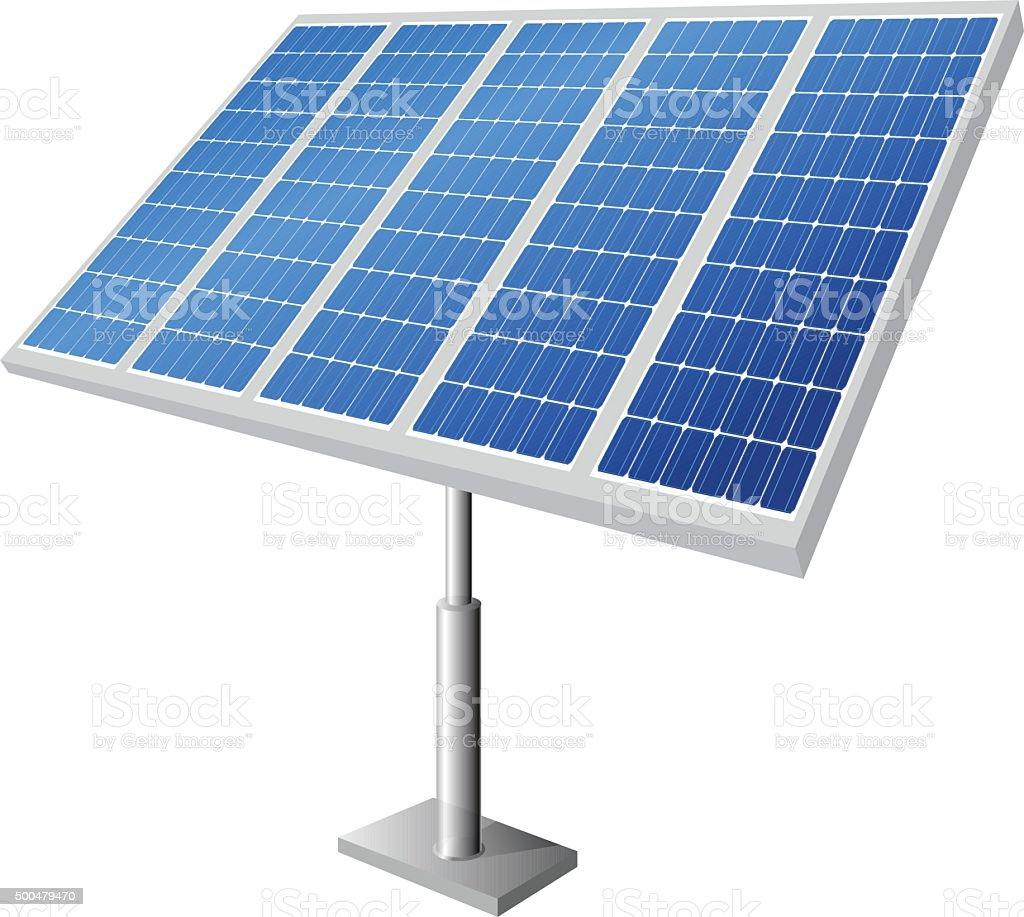 Solar Ground Panels vector art illustration