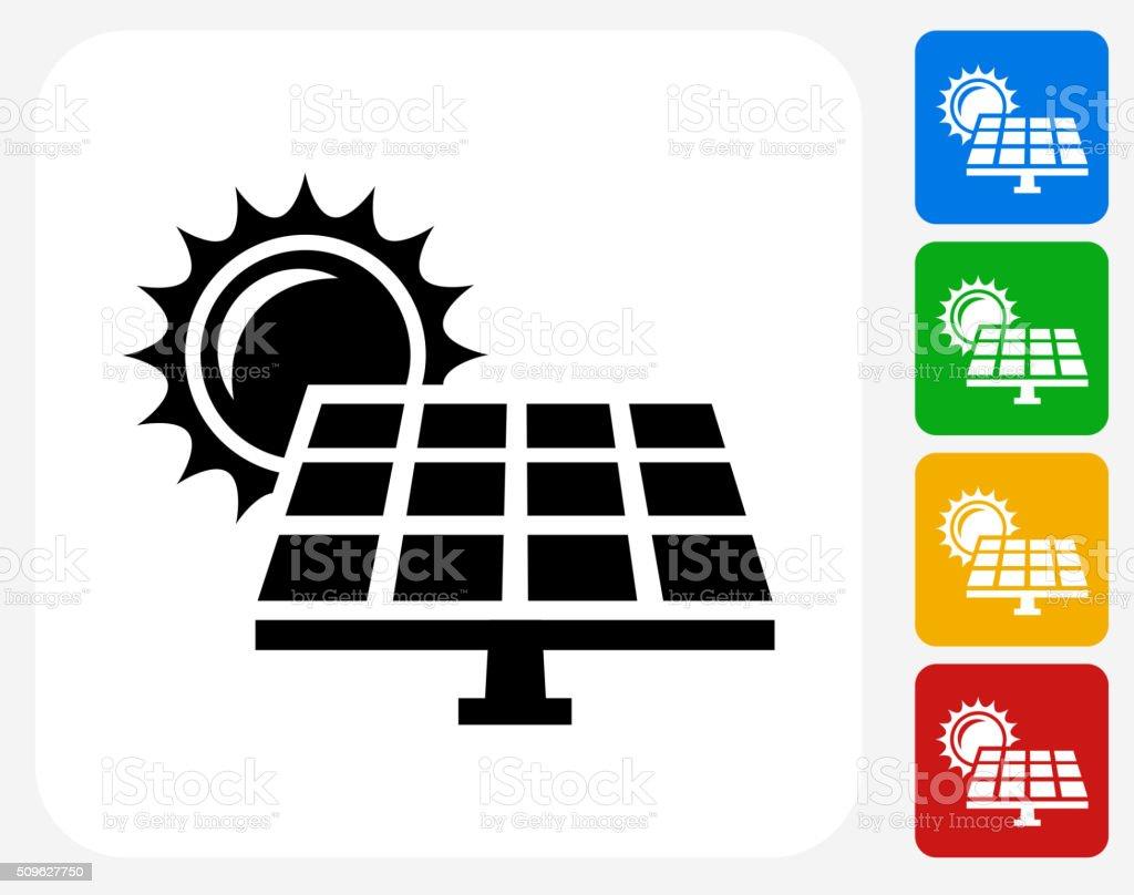 Solar Panel Icon Flat Graphic Design vector art illustration