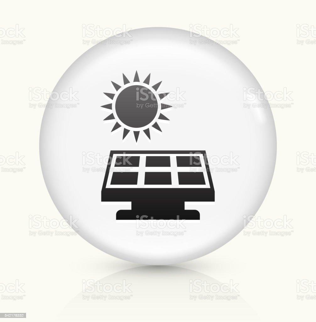 Solar Panel icon on white round vector button vector art illustration