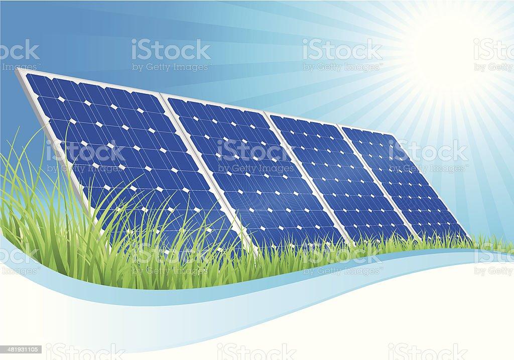 Solar Panel Landscape royalty-free stock vector art