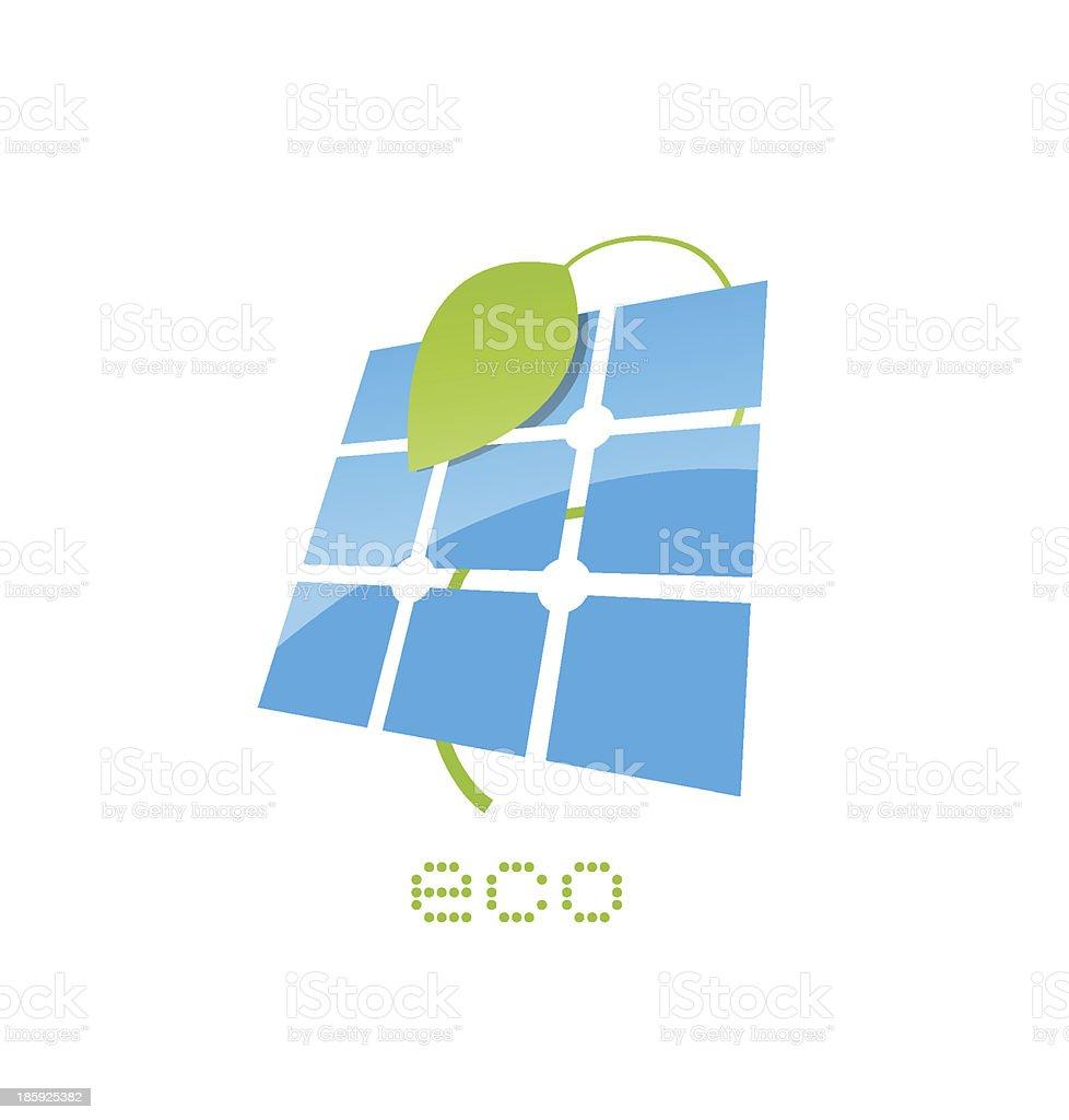 solar panel sign vector art illustration