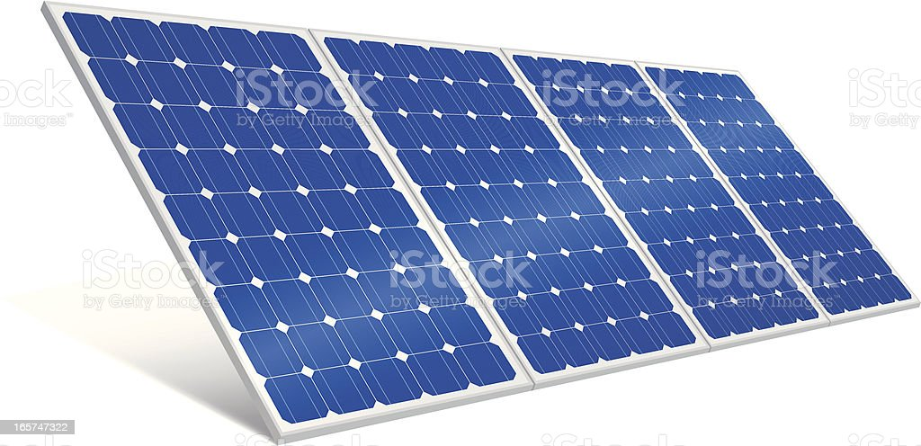 Solar Panel (Vector) vector art illustration