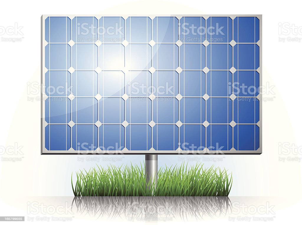 Solar Panel vector art illustration