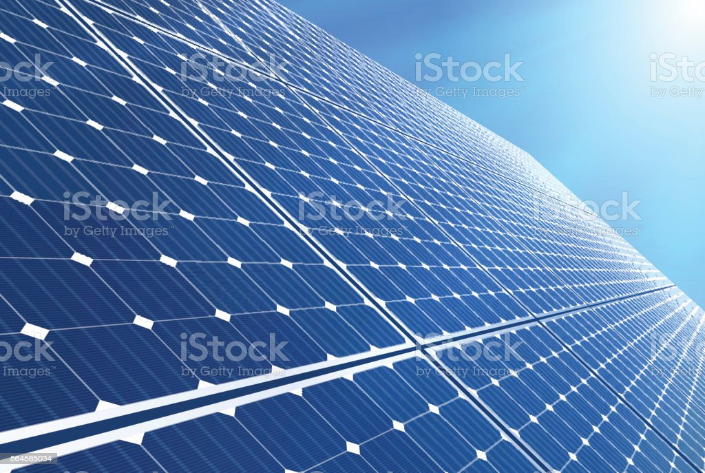 Solar panel vector art illustration
