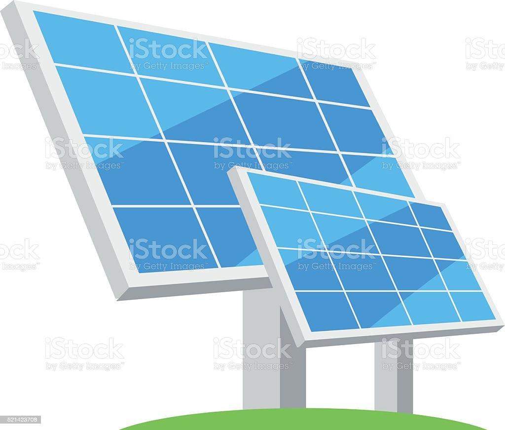 Solar panels. Types of alternative energy. Eco-friendly energy. vector art illustration