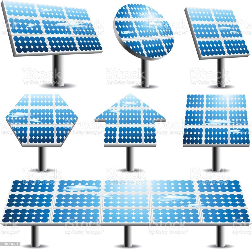 Solar panels royalty-free stock vector art