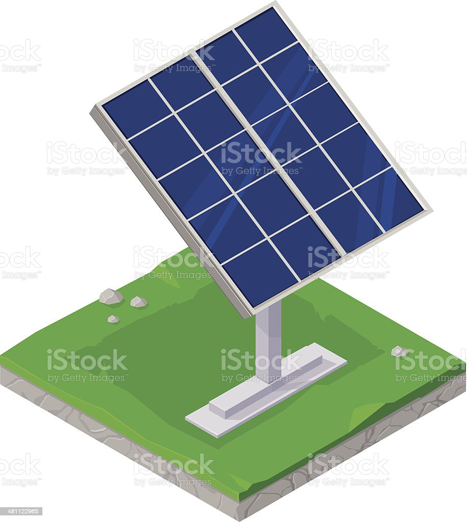 Solar Power Alternative Energy Icon vector art illustration