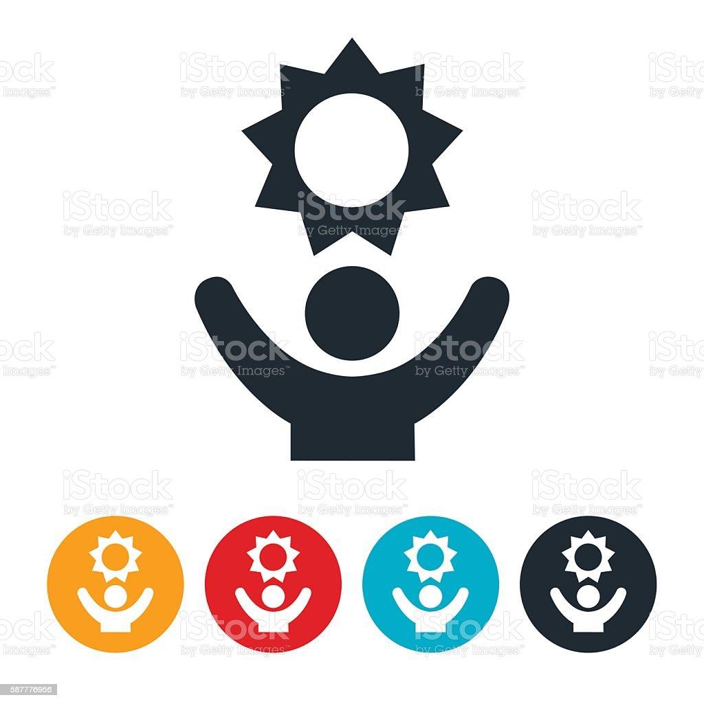 Solar Power Icon vector art illustration