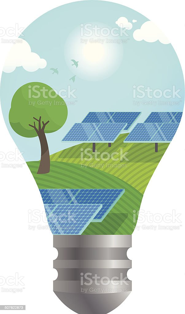 Solar power idea royalty-free stock vector art