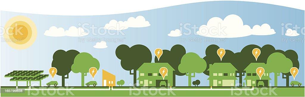 Solar Power royalty-free stock vector art