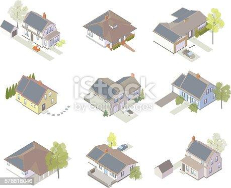 Solar panel house icons