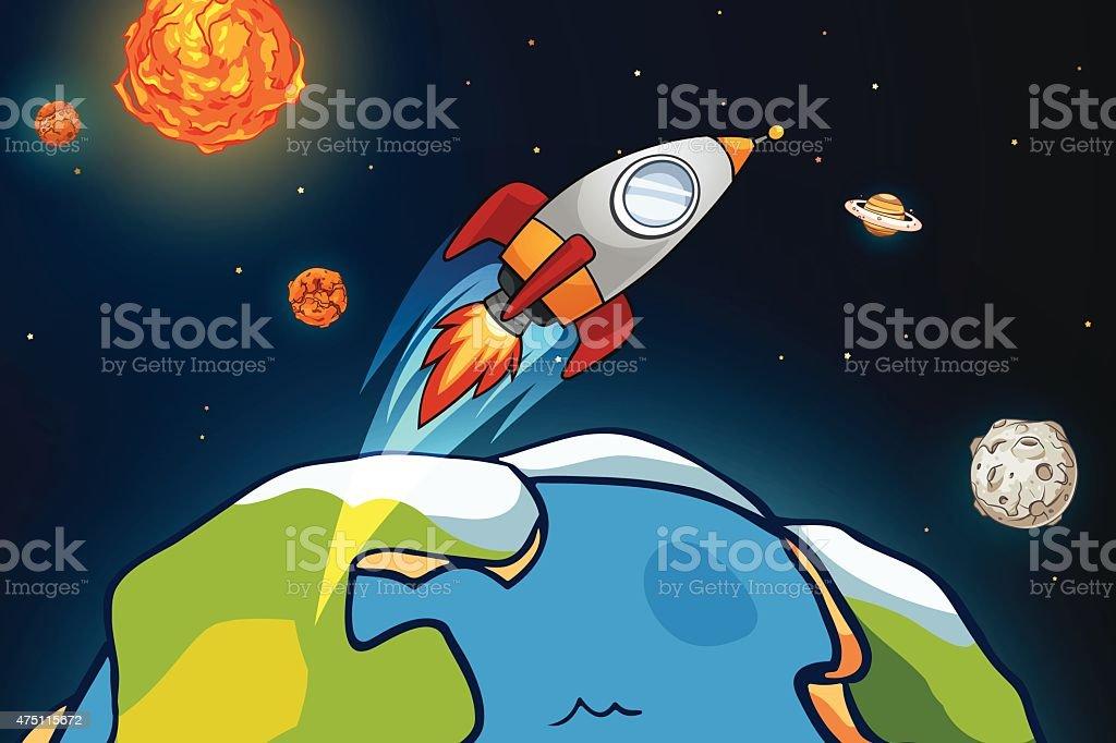 Solar system royalty-free stock vector art
