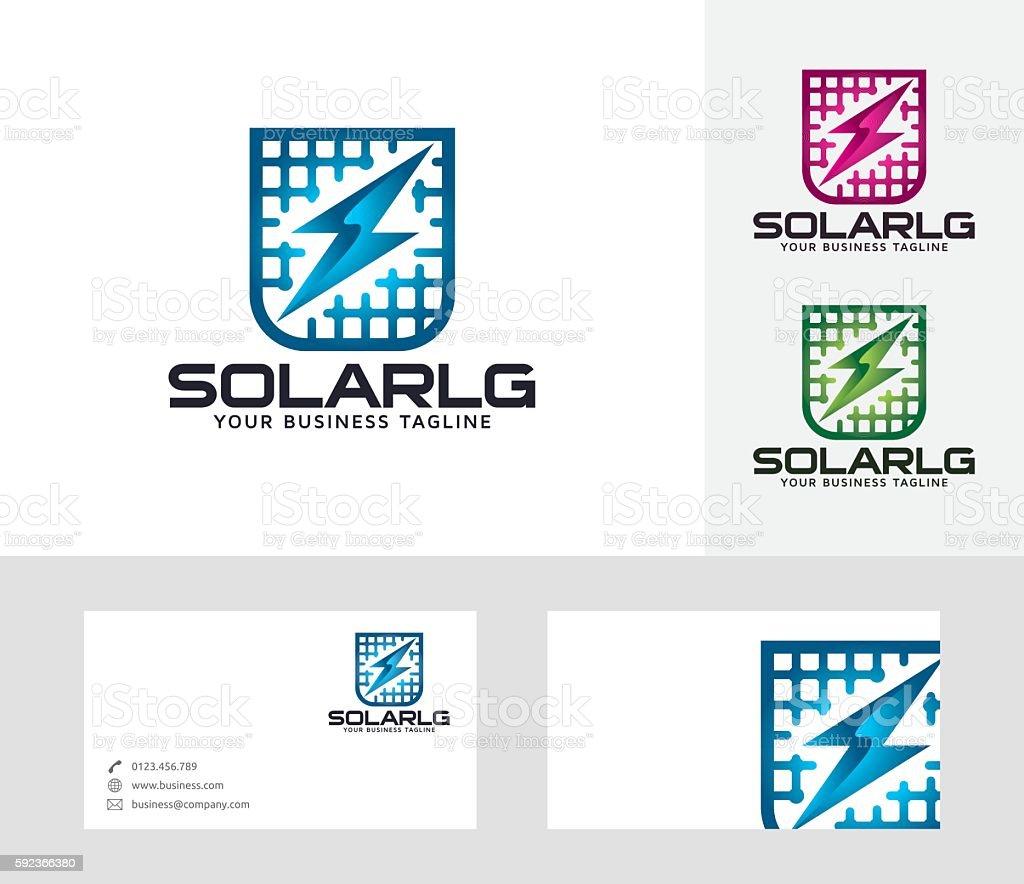 Solar vector logo vector art illustration