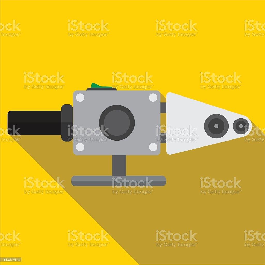Soldering pipe flat icon illustration vector art illustration