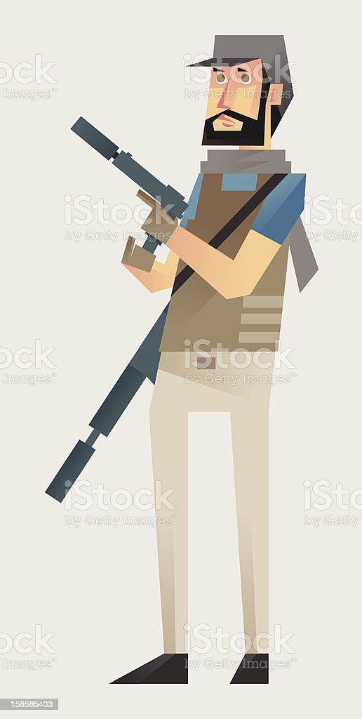 Soldier Mercenary Class 5/5 vector art illustration