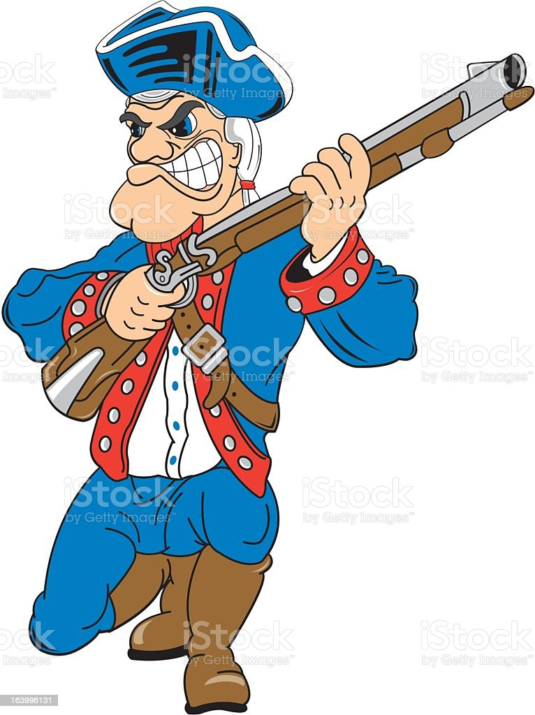 Soldier of the American Revolution royalty-free stock vector art