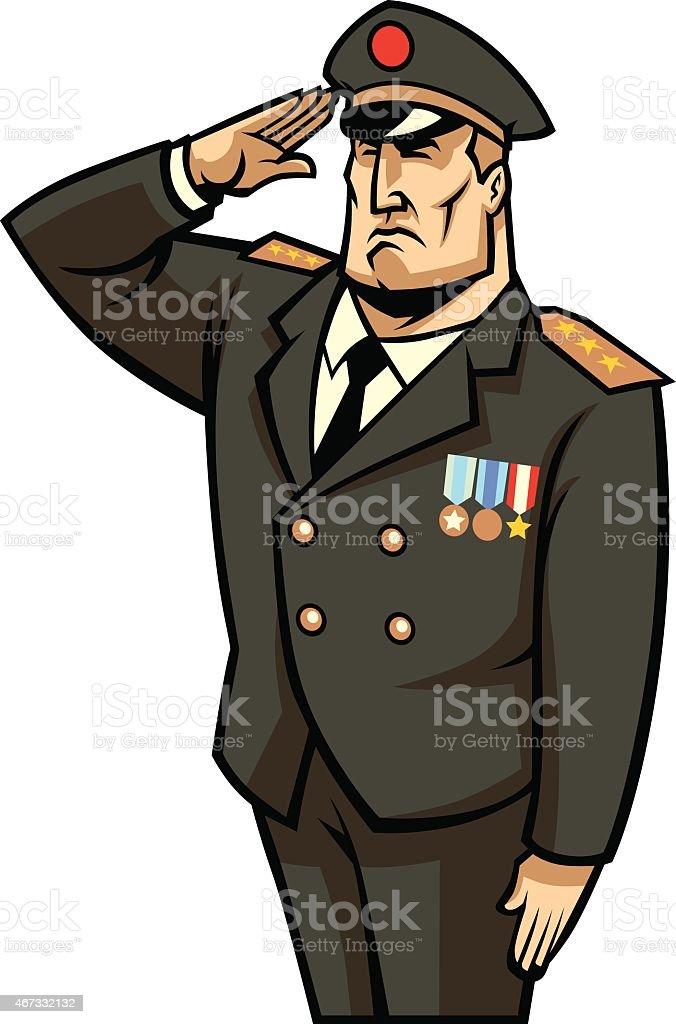 soldier salute vector art illustration