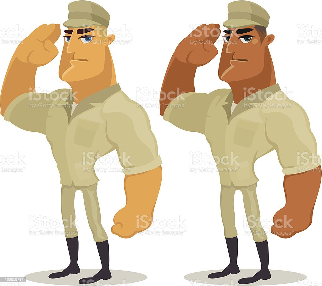 soldier saluting royalty-free stock vector art