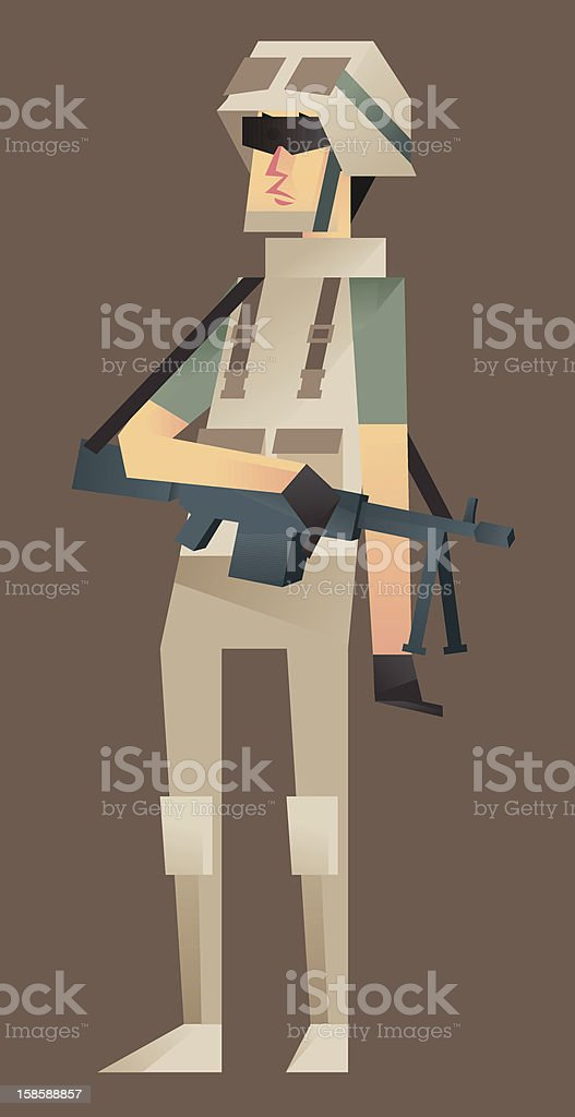 Soldier Support Class 2/5 vector art illustration
