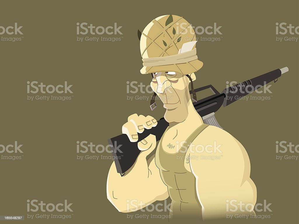 Soldier royalty-free stock vector art