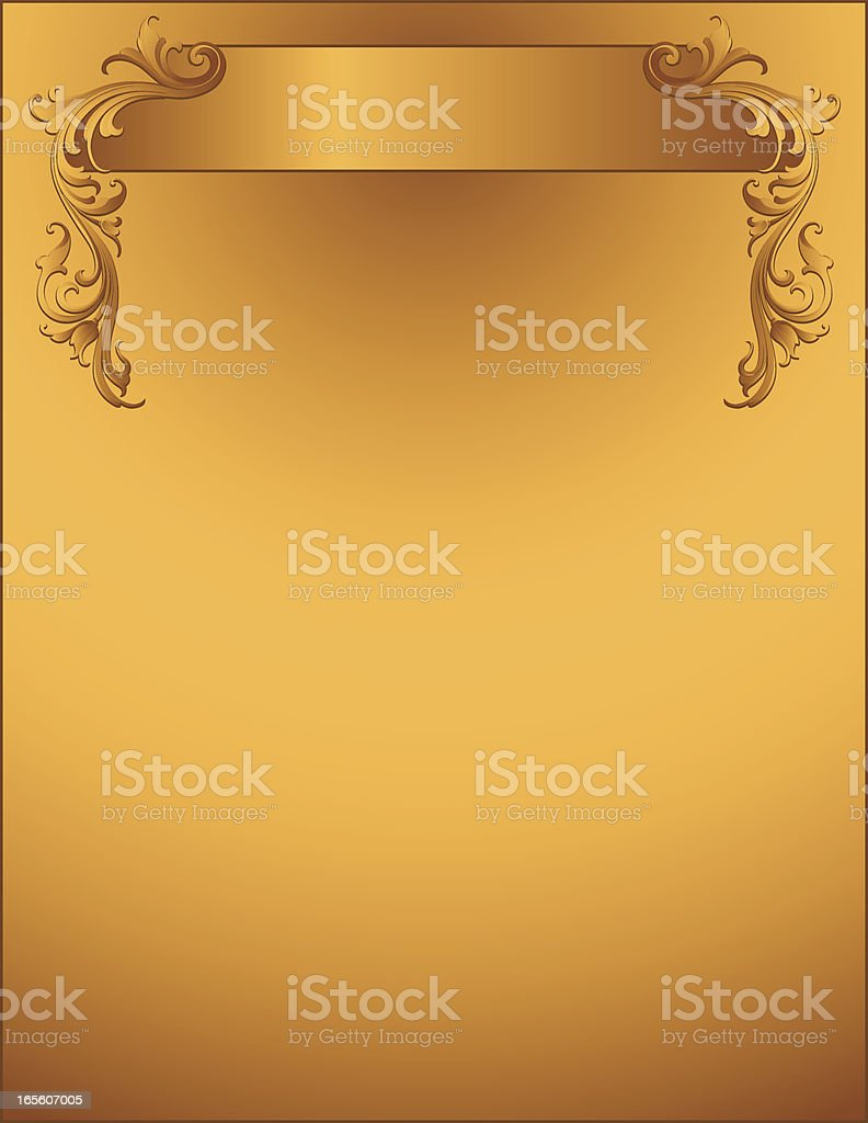 Solid Gold Banner Page royalty-free stock vector art