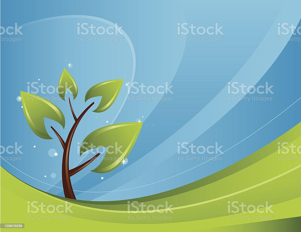 Solitary Tree royalty-free stock vector art