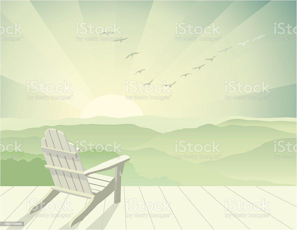 Solitude vector art illustration