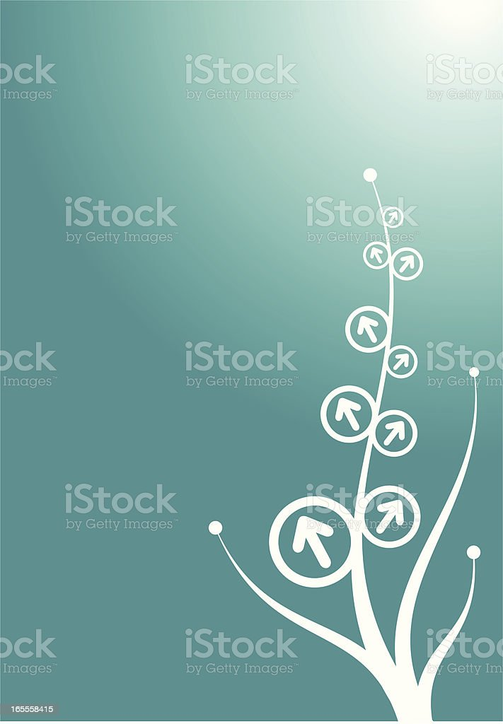 solution branches royalty-free stock vector art