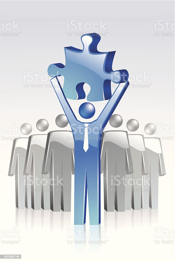 Solution Concept royalty-free stock vector art