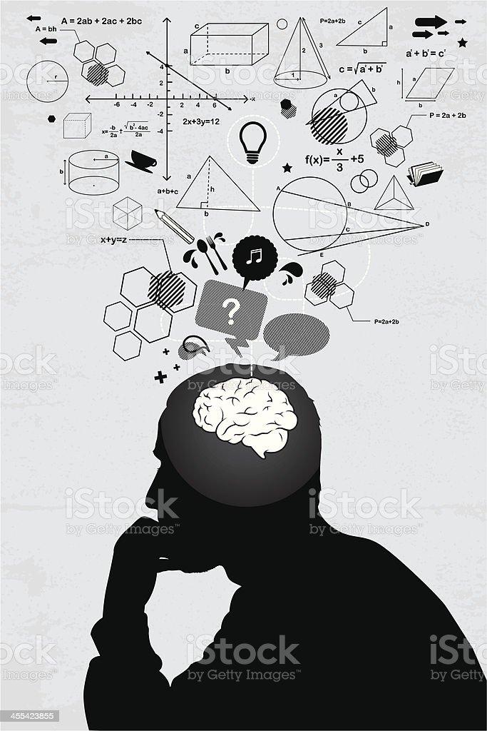 Solution vector art illustration