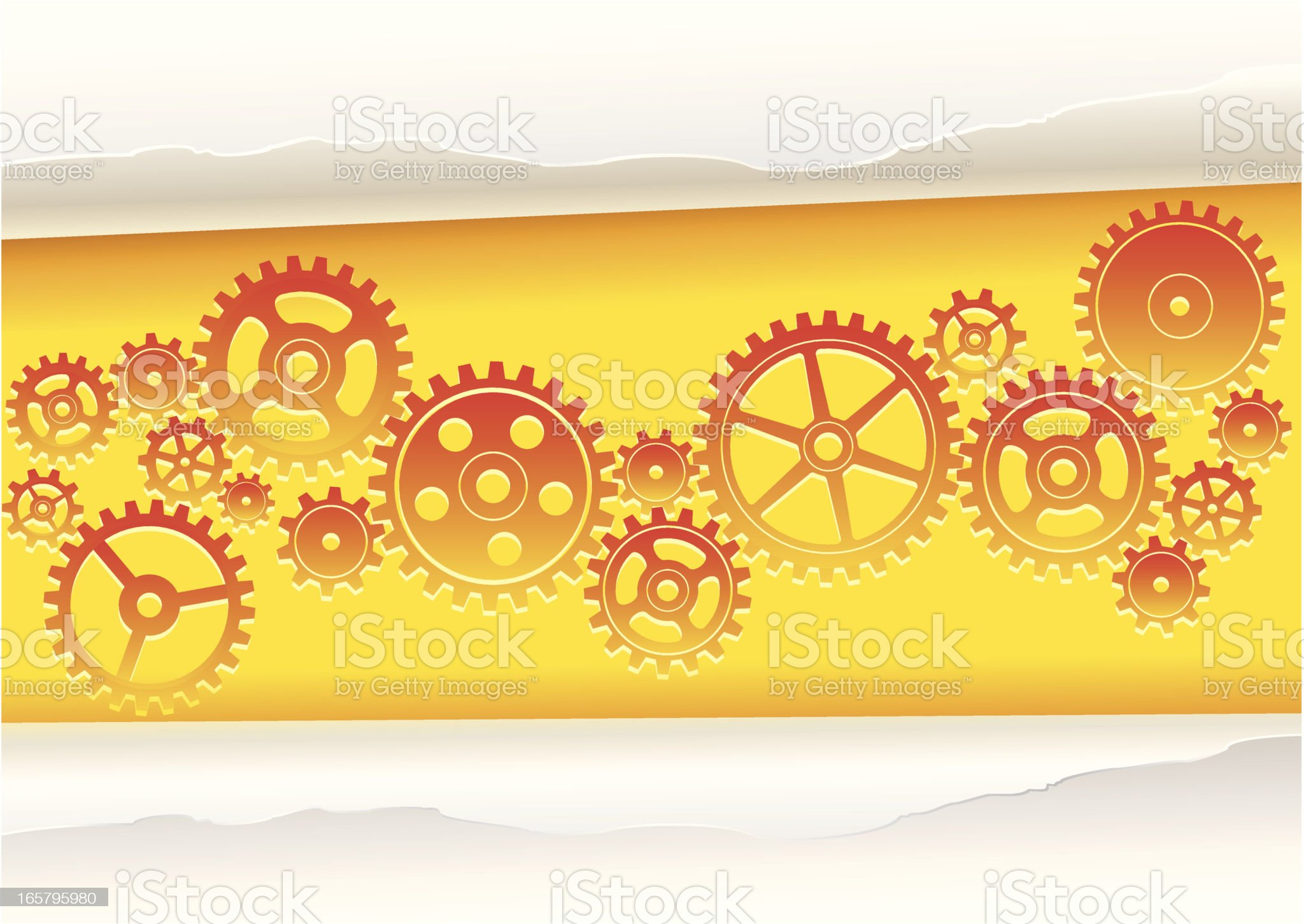 Solutions underneath the paper royalty-free stock vector art