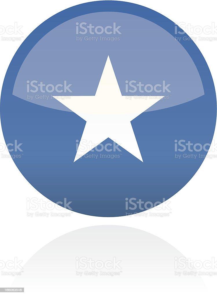 Somalia, Africa Flag Button royalty-free stock vector art