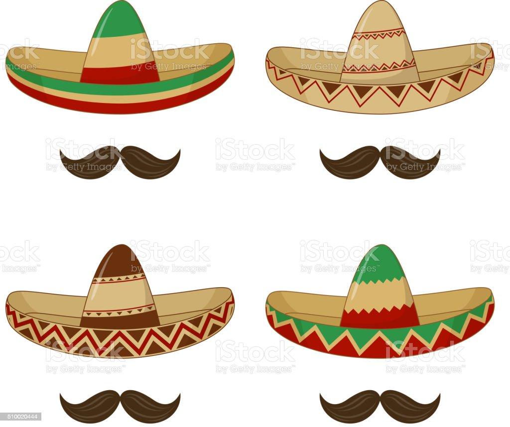Sombrero - mexican hat vector art illustration