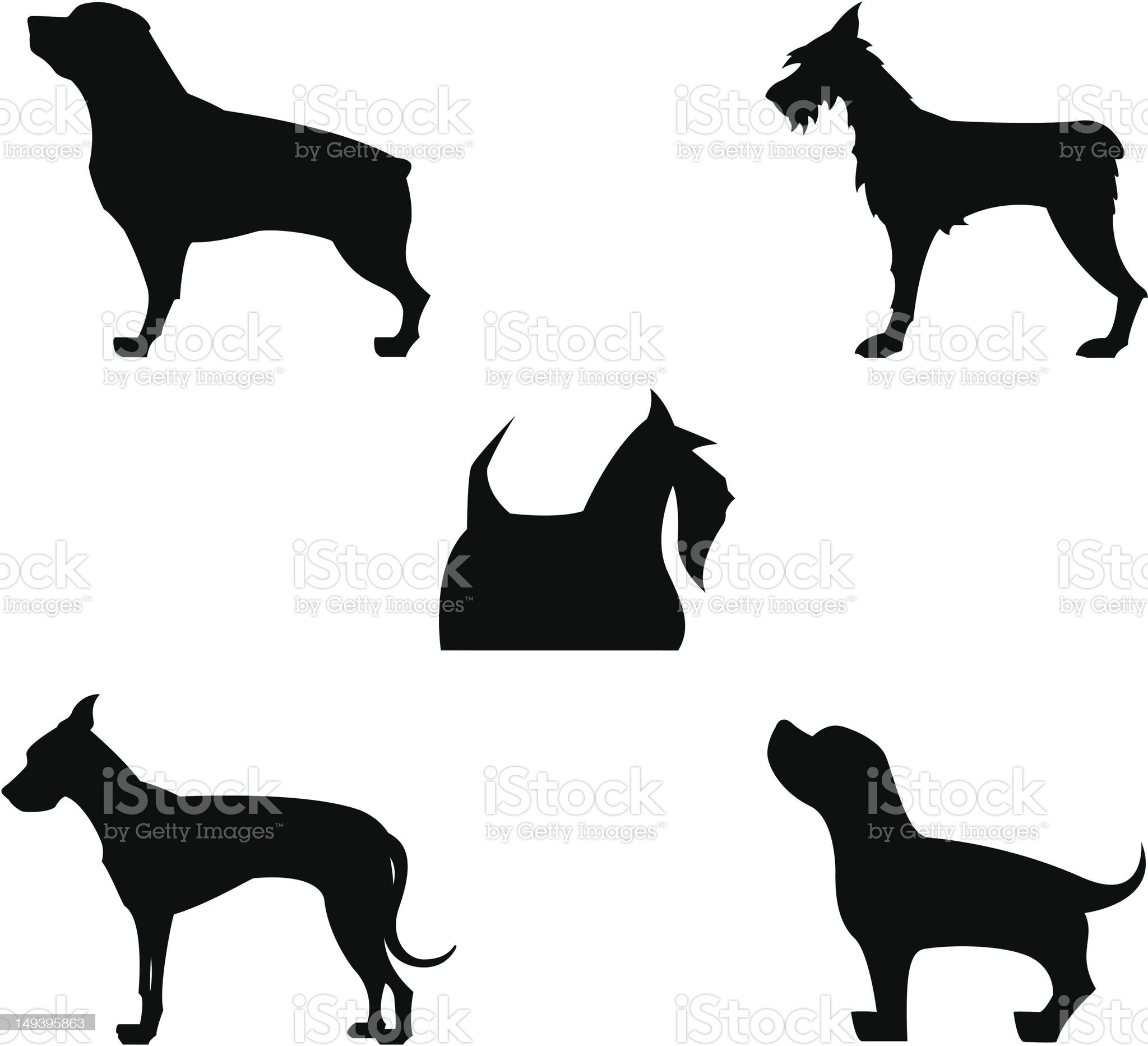 Some Dogs royalty-free stock vector art