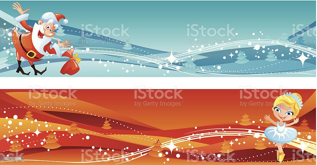 Some New Year banners royalty-free stock vector art