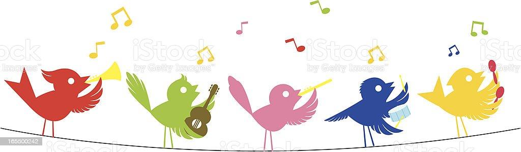 Song Birds royalty-free stock vector art
