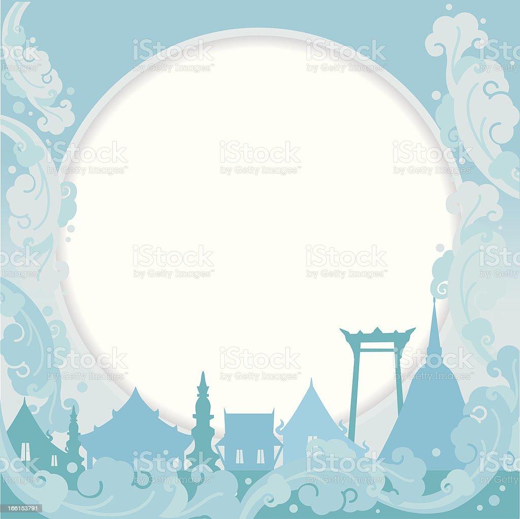 Songkran festival background royalty-free stock vector art