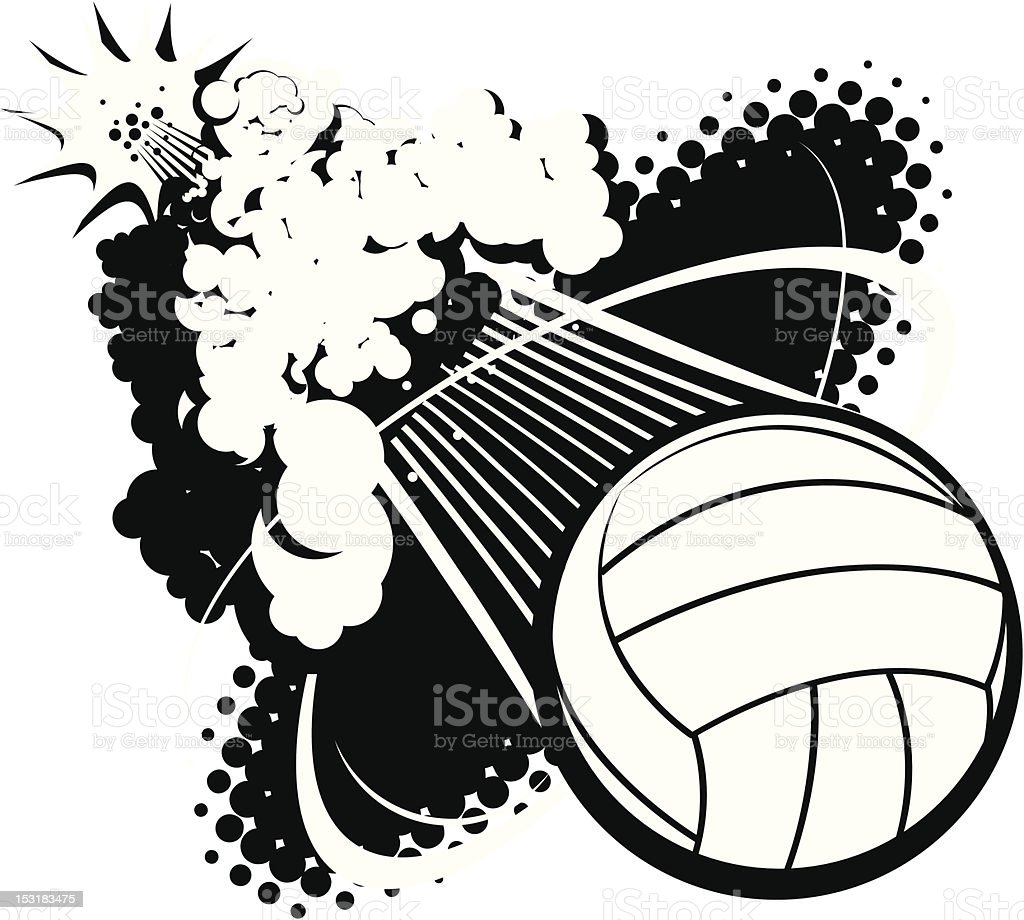 Sonic Boom Volleyball royalty-free stock vector art