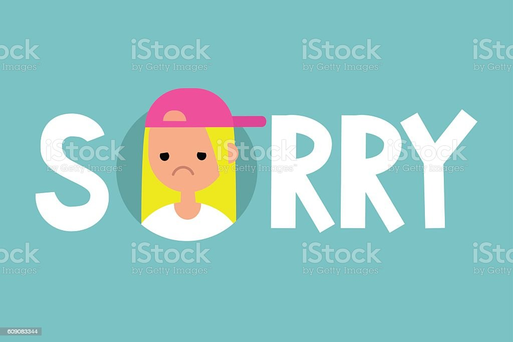 Sorry illustrated sign vector art illustration