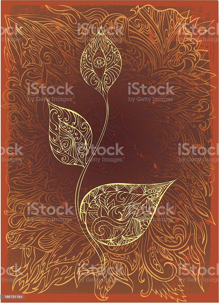 soul flower royalty-free stock vector art