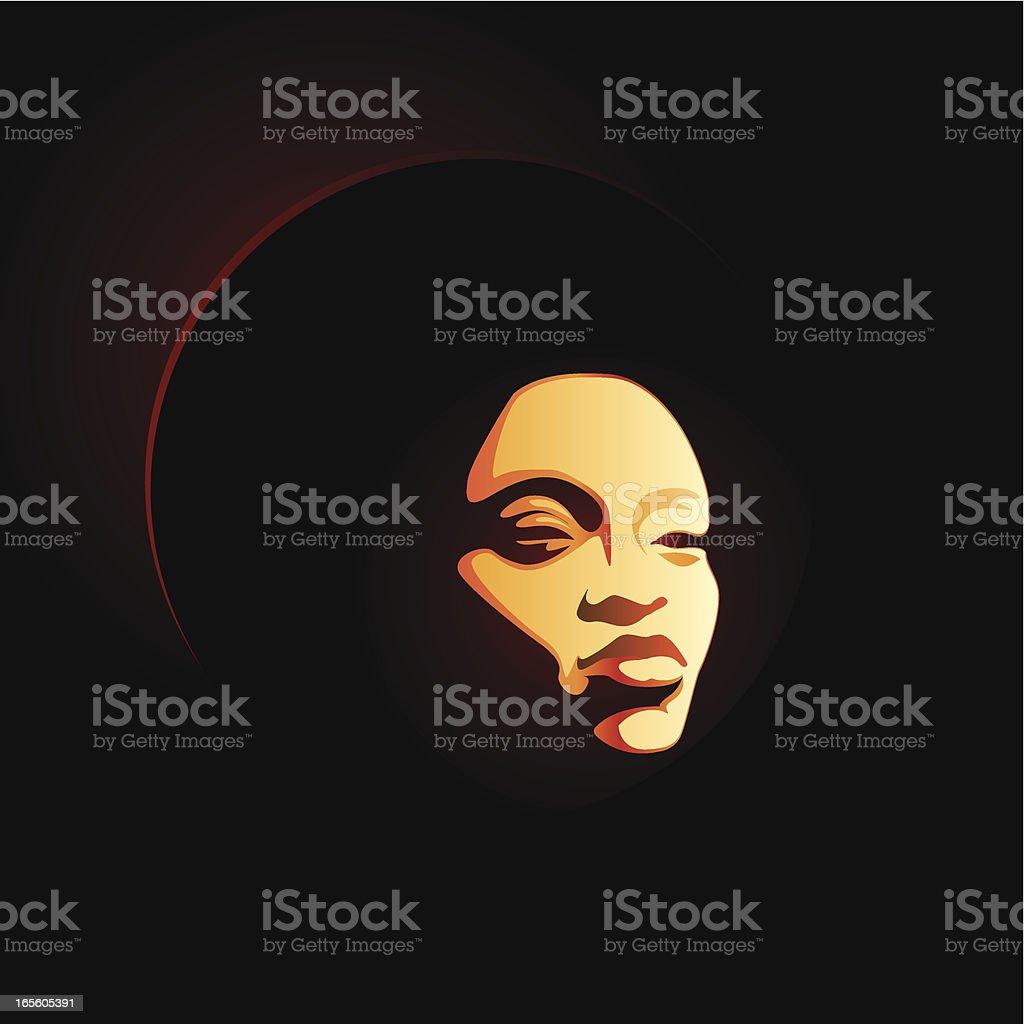 soul lady afro vector art illustration
