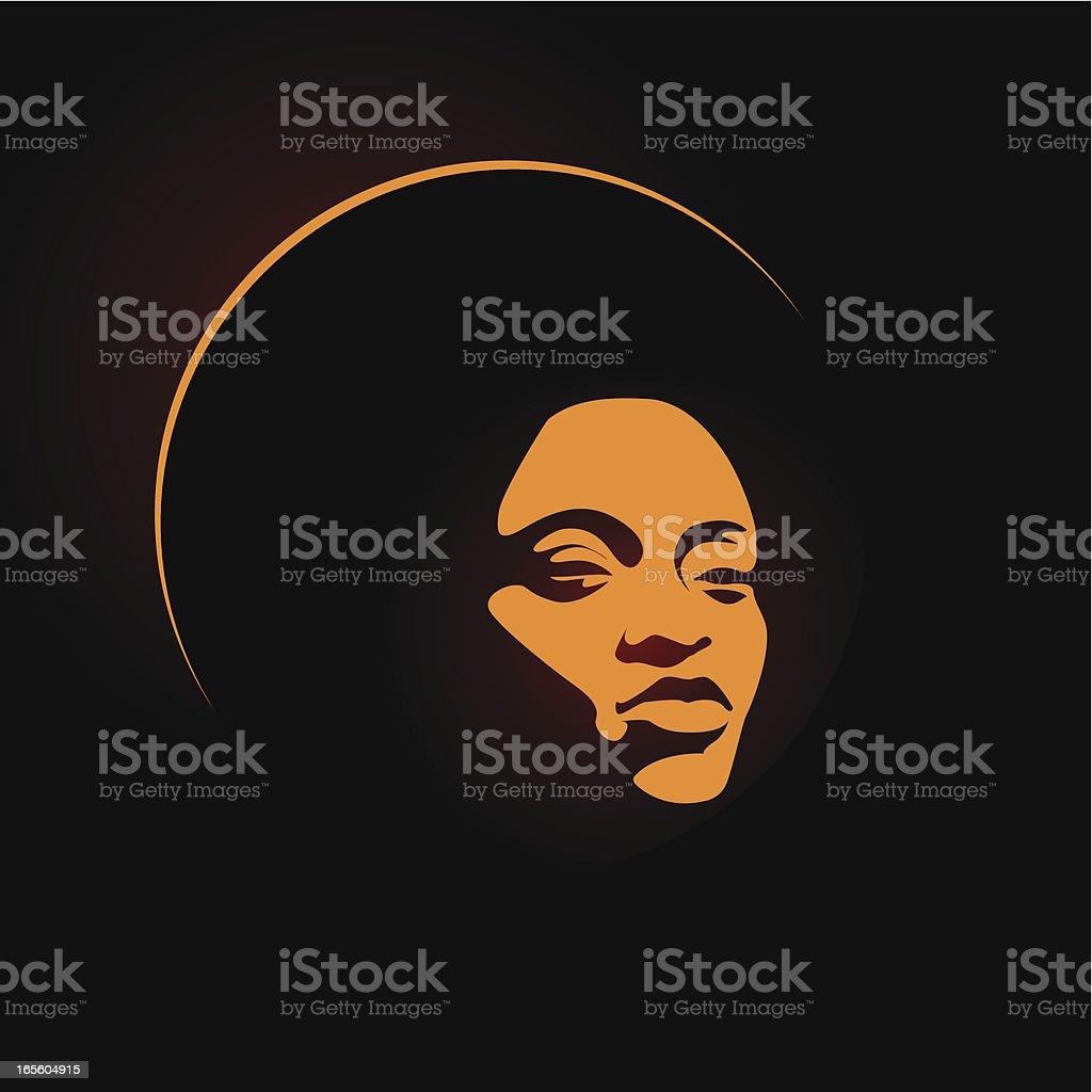 soul lady orange vector art illustration