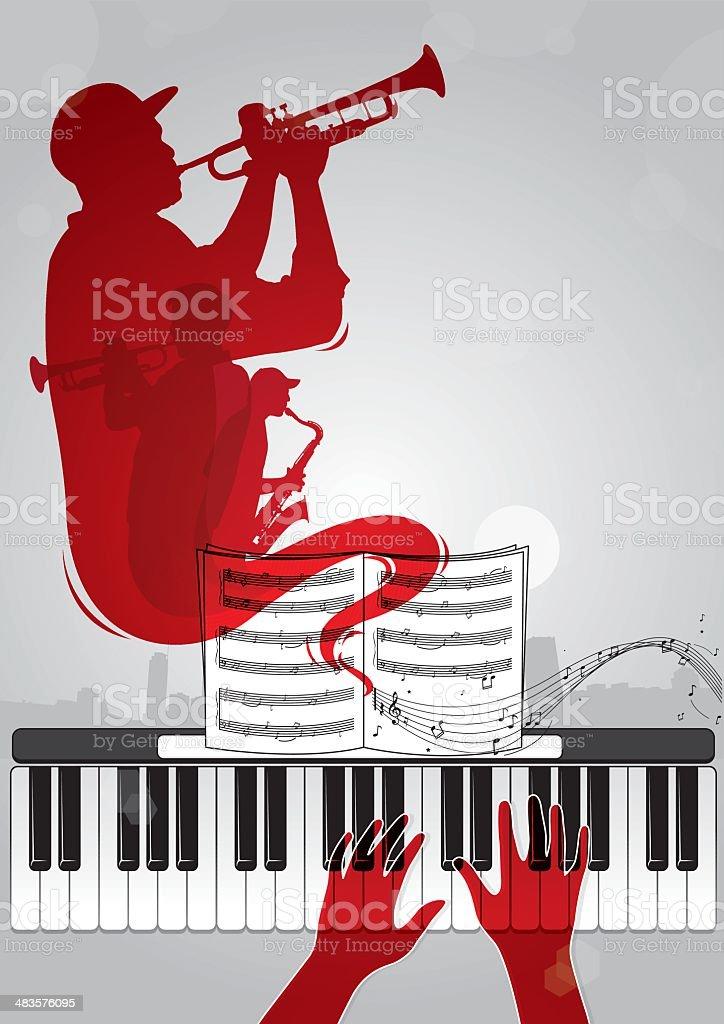 Soul of music vector art illustration